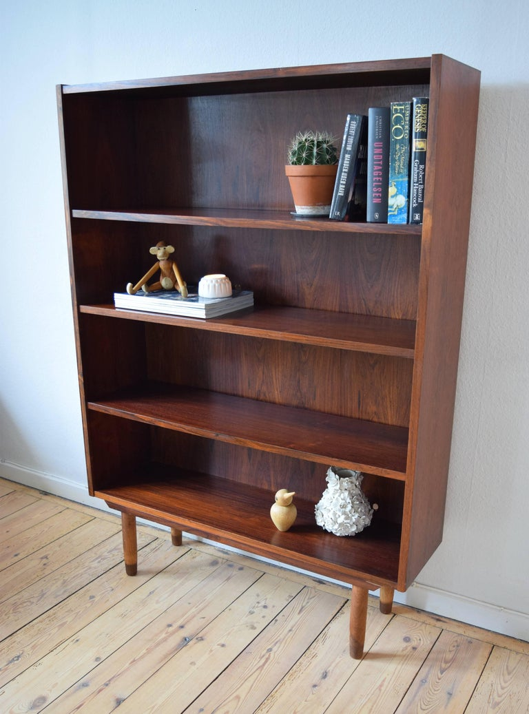 Rosewood Bookshelf Manufactured In Denmark The 1960s By Viby Mbelfabrik Features Three Adjustable Shelves