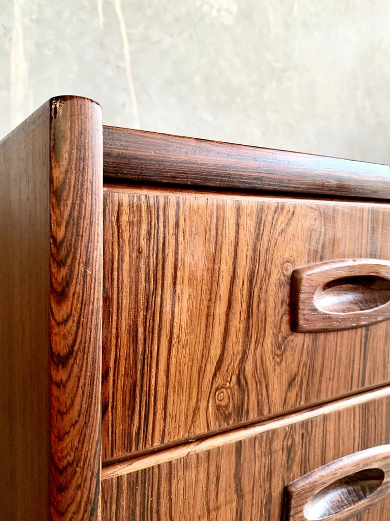 20th Century Midcentury Danish Rosewood Chest of Drawers For Sale