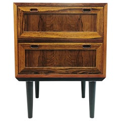 Midcentury Danish Rosewood Chest of Two Drawers, 1960s-1970s