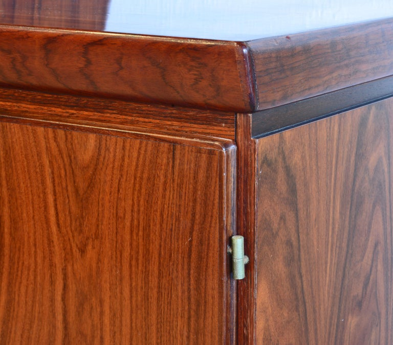 Midcentury Danish Rosewood Credenza and Hutch Cabinet by Skovby Furniture For Sale 3