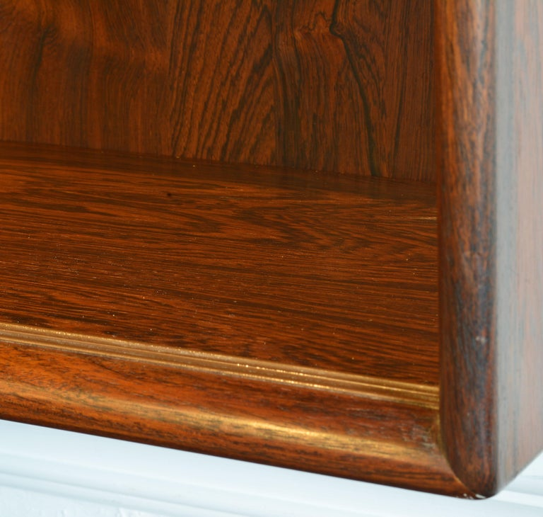 Midcentury Danish Rosewood Credenza and Hutch Cabinet by Skovby Furniture 6