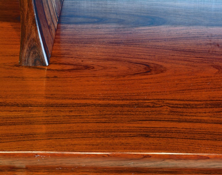 Midcentury Danish Rosewood Credenza and Hutch Cabinet by Skovby Furniture For Sale 10