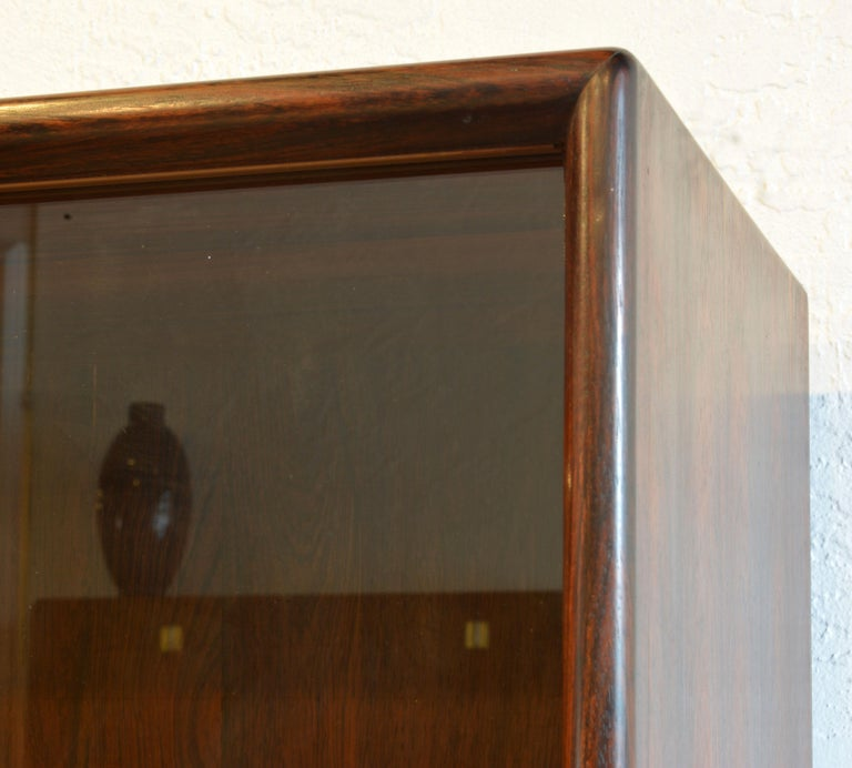 Midcentury Danish Rosewood Credenza and Hutch Cabinet by Skovby Furniture For Sale 11
