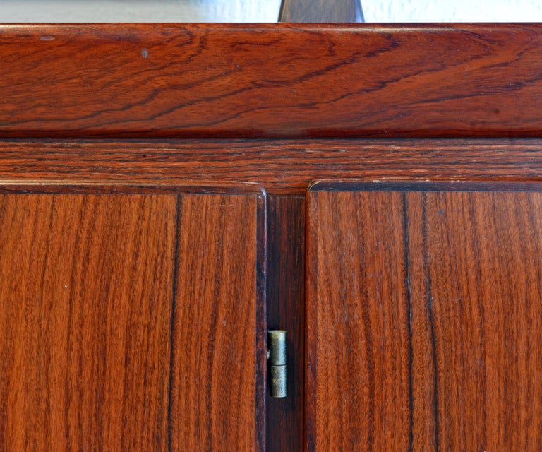 Midcentury Danish Rosewood Credenza and Hutch Cabinet by Skovby Furniture For Sale 1