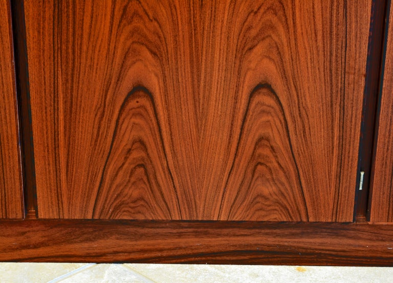 Midcentury Danish Rosewood Credenza and Hutch Cabinet by Skovby Furniture For Sale 2