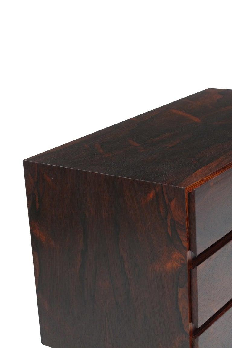 Scandinavian Modern Midcentury Danish Rosewood Dresser For Sale