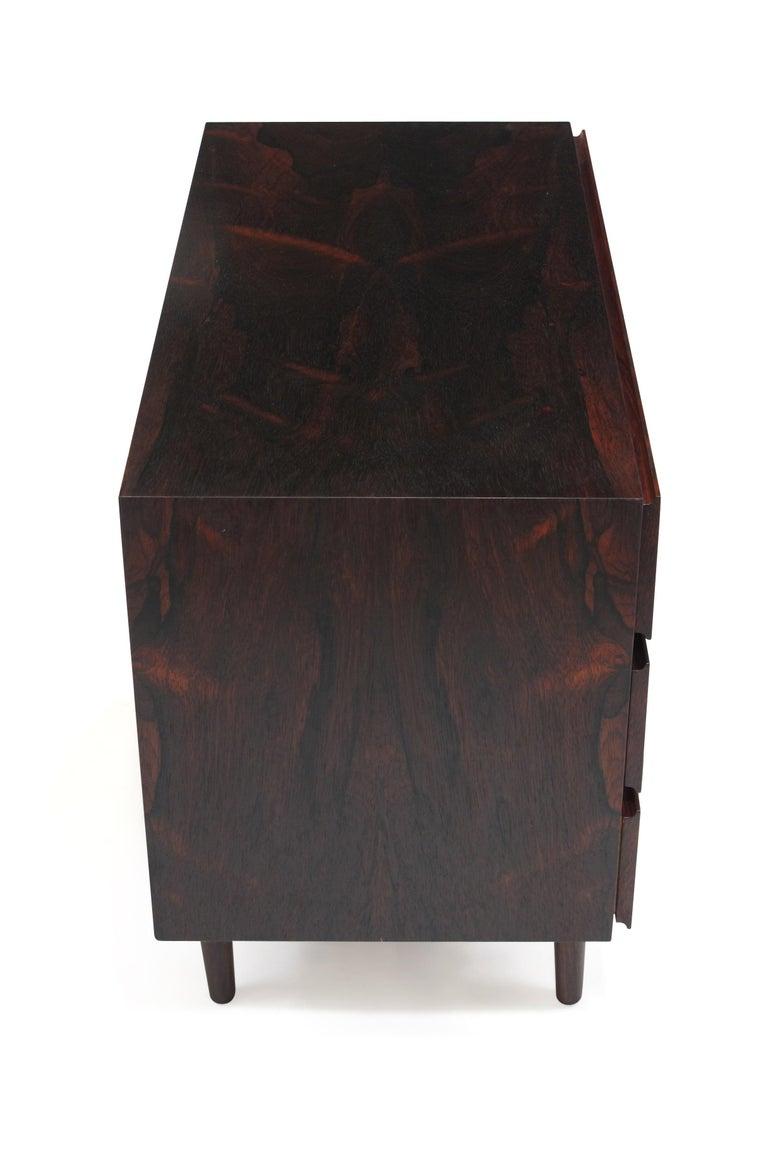 Midcentury Danish Rosewood Dresser In Excellent Condition For Sale In Berkeley, CA