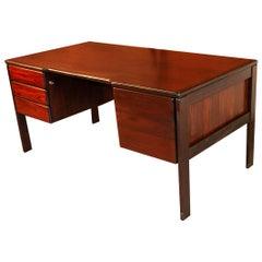 Midcentury Danish Rosewood Executive Desk by Bornholm