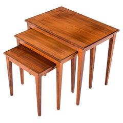 Mid-Century Danish Rosewood Nesting Tables, 1950s
