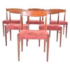 Midcentury Danish Rosewood Set of 6 Dinning Chairs