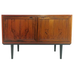 Mid Century Danish Rosewood Sideboard Cabinet 1960s-1970s