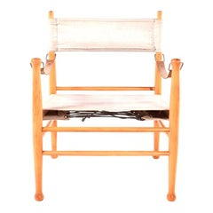 Mid Century Danish Safari Chair by Farstrup Stolen