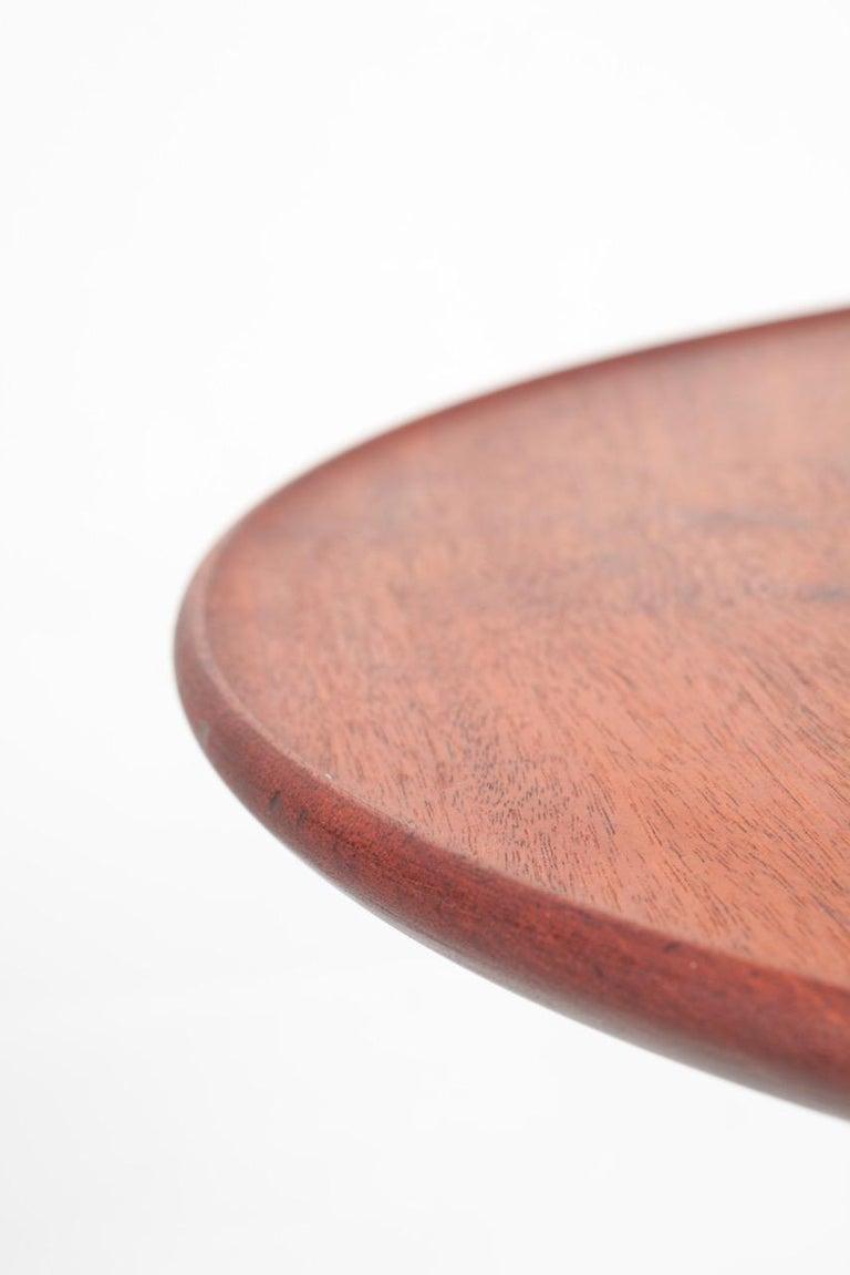 Scandinavian Modern Midcentury Danish Side Table, Solid Mahogany by Cabinetmaker Frits Henningsen For Sale