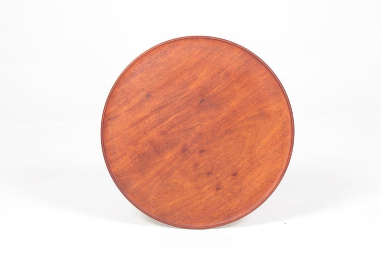 Mid-20th Century Midcentury Danish Side Table, Solid Mahogany by Cabinetmaker Frits Henningsen For Sale