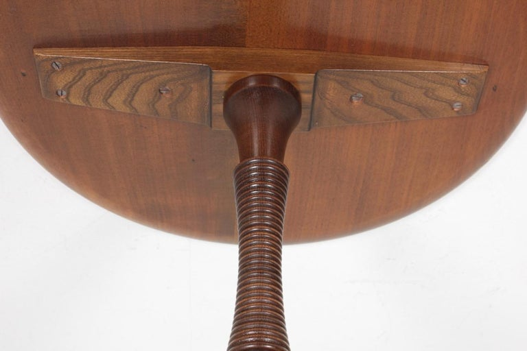 Midcentury Danish Side Table, Solid Mahogany by Cabinetmaker Frits Henningsen For Sale 1