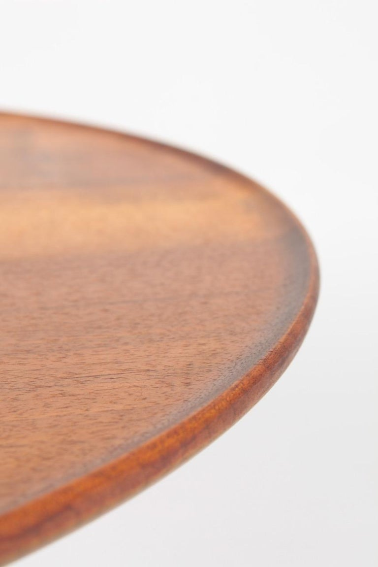 Midcentury Danish Side Table, Solid Mahogany by Cabinetmaker Frits Henningsen For Sale 4