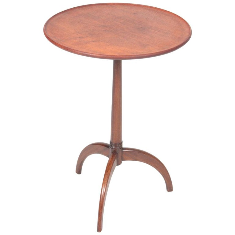 Midcentury Danish Side Table, Solid Mahogany by Cabinetmaker Frits Henningsen For Sale