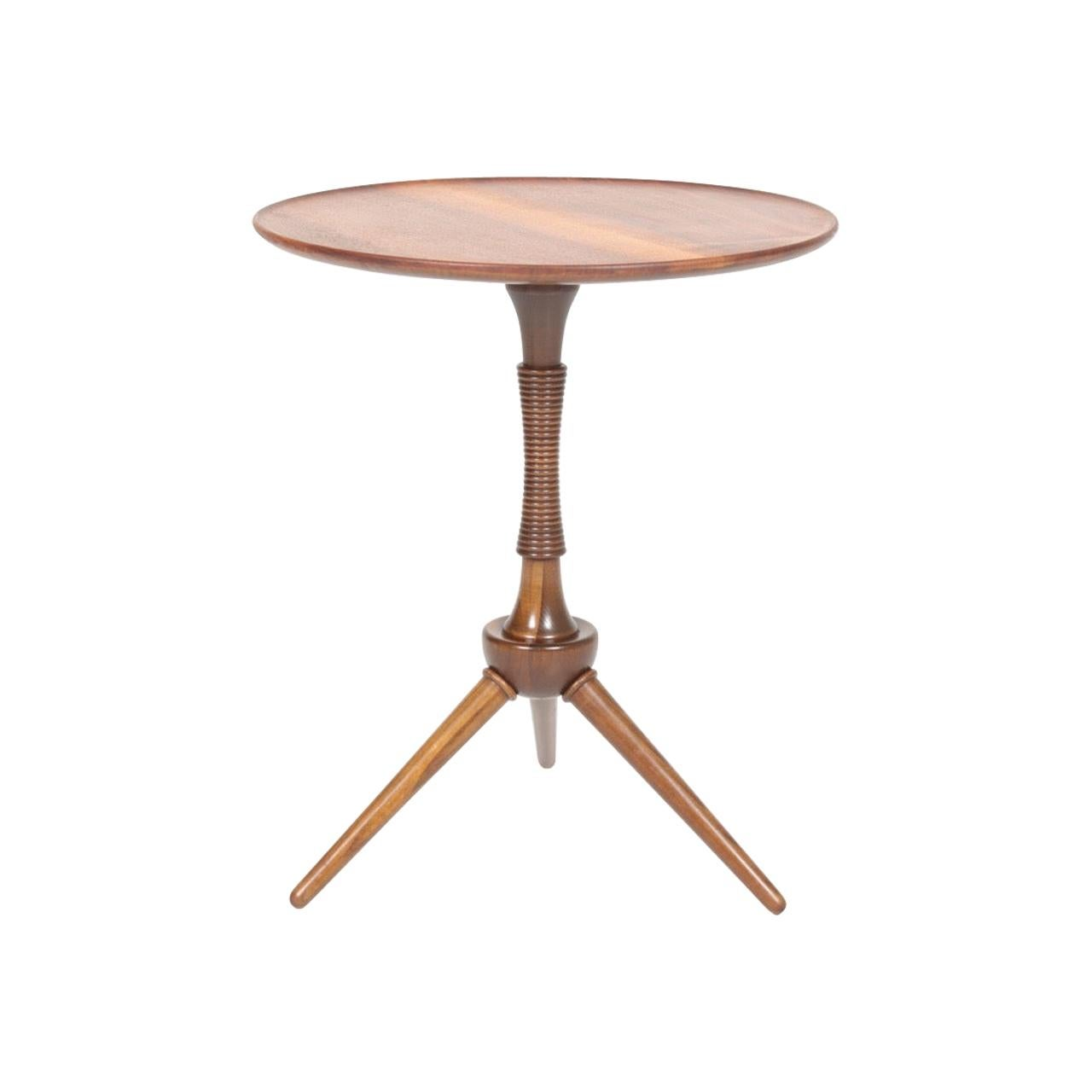 Midcentury Danish Side Table, Solid Mahogany by Cabinetmaker Frits Henningsen