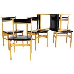 Midcentury Danish Style Beech Chairs by Mocholi Spain, 1960s
