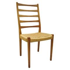 Midcentury Danish Swedish Modern Svegards Markaryd Teak Rope Dining Chair