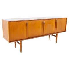 Mid Century Danish Teak Credenza with Sliding Doors