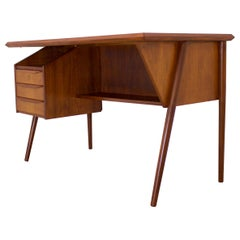 Midcentury Danish Teak Desk by Gunnar Nielson Tibergaard