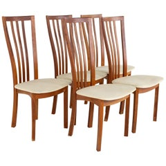 Mid Century Danish Teak Dining Chairs, Set of 5