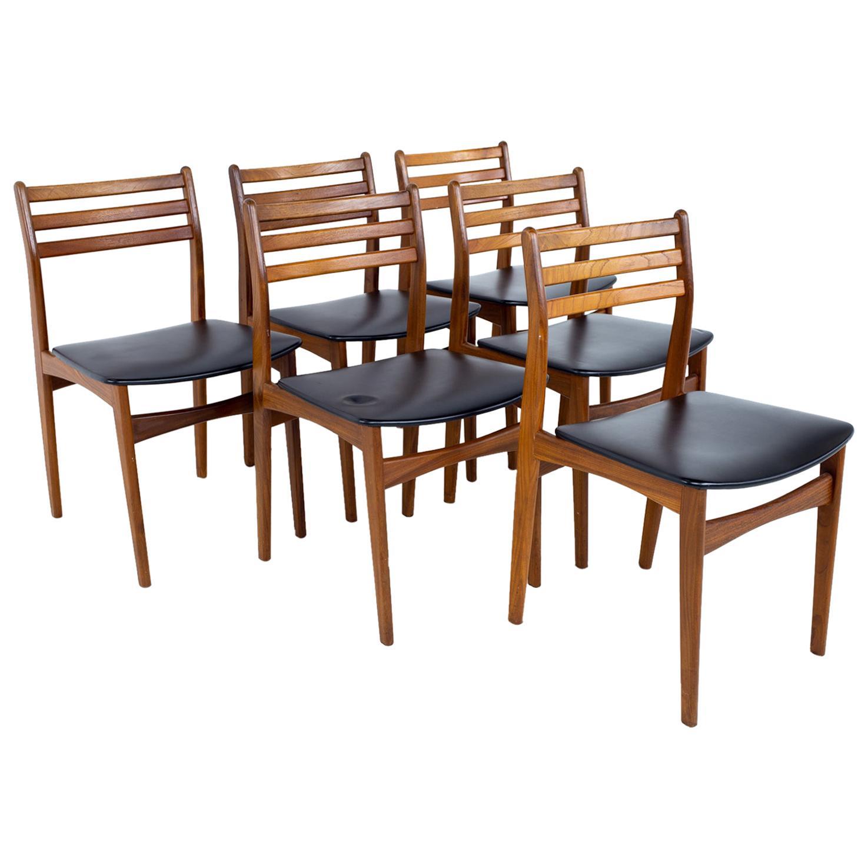 Mid Century Danish Teak Dining Chairs, Set of 6