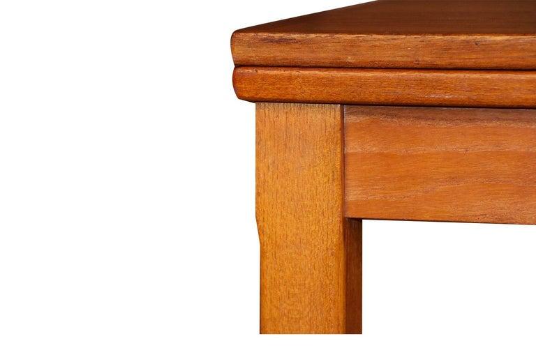 Midcentury Danish Teak Extendable Dining Table For Sale 2