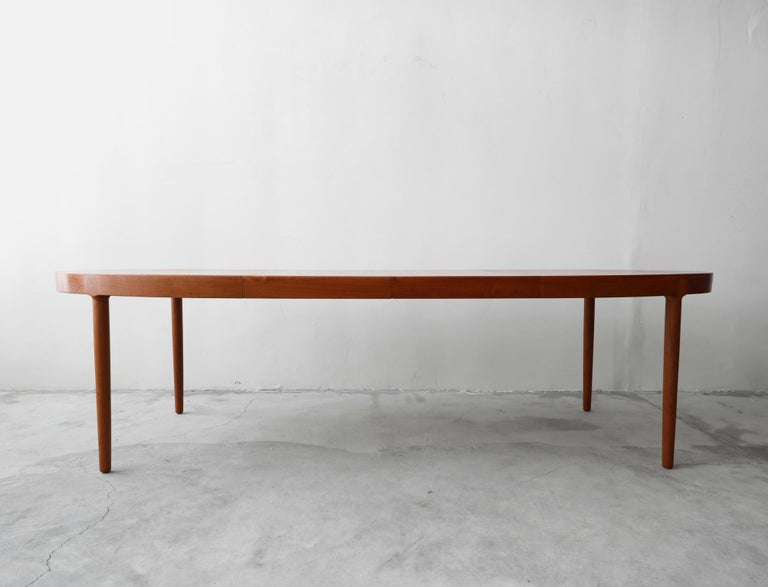 Mid-Century Modern Midcentury Danish Teak Oval Dining Table by Harry Ostergaard for A/S Randers