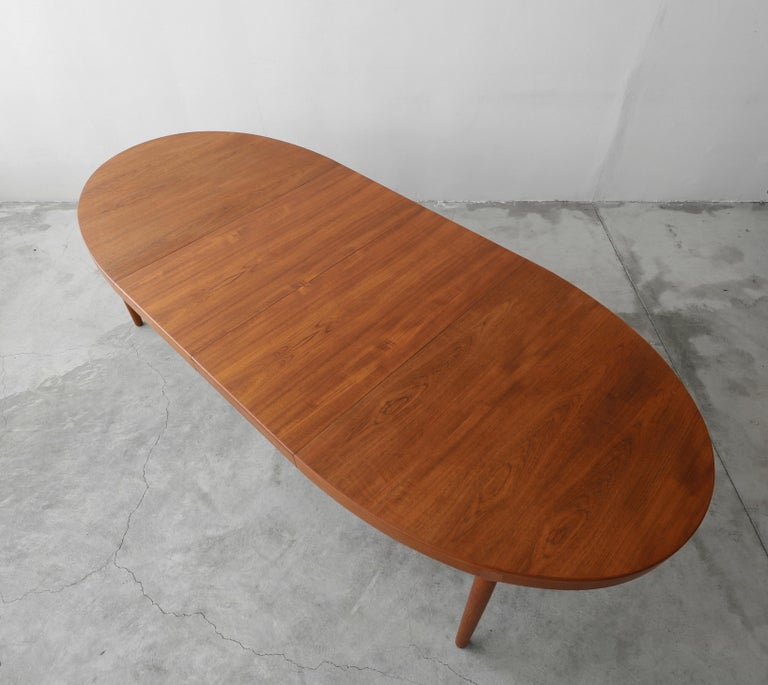 20th Century Midcentury Danish Teak Oval Dining Table by Harry Ostergaard for A/S Randers
