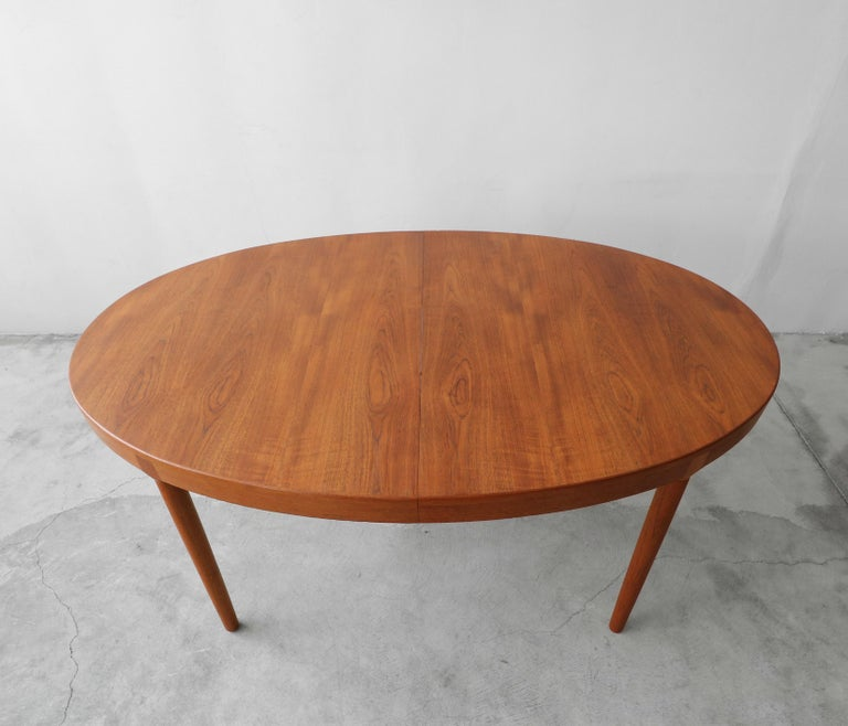 Midcentury Danish Teak Oval Dining Table by Harry Ostergaard for A/S Randers 1