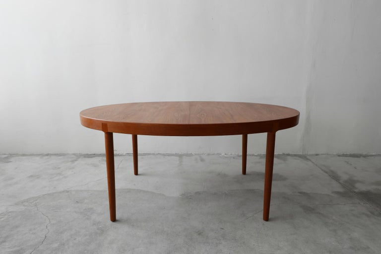 Midcentury Danish Teak Oval Dining Table by Harry Ostergaard for A/S Randers 2