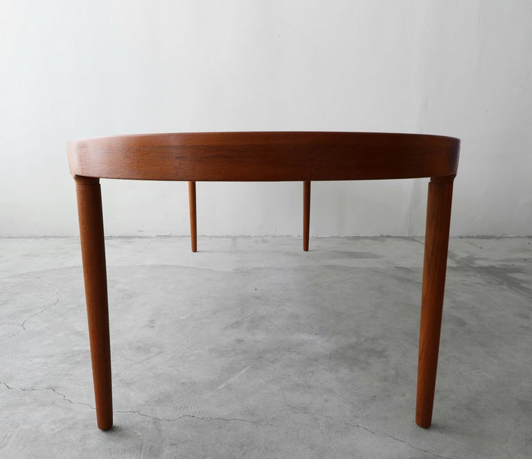Midcentury Danish Teak Oval Dining Table by Harry Ostergaard for A/S Randers 3
