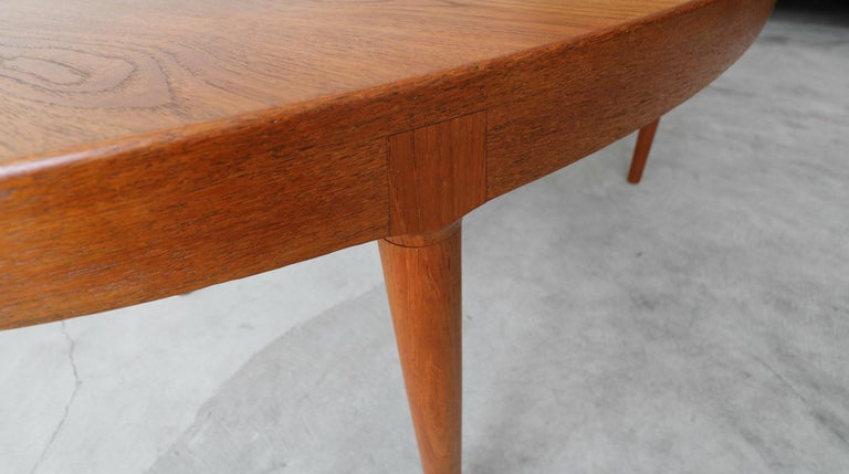 Midcentury Danish Teak Oval Dining Table by Harry Ostergaard for A/S Randers 4