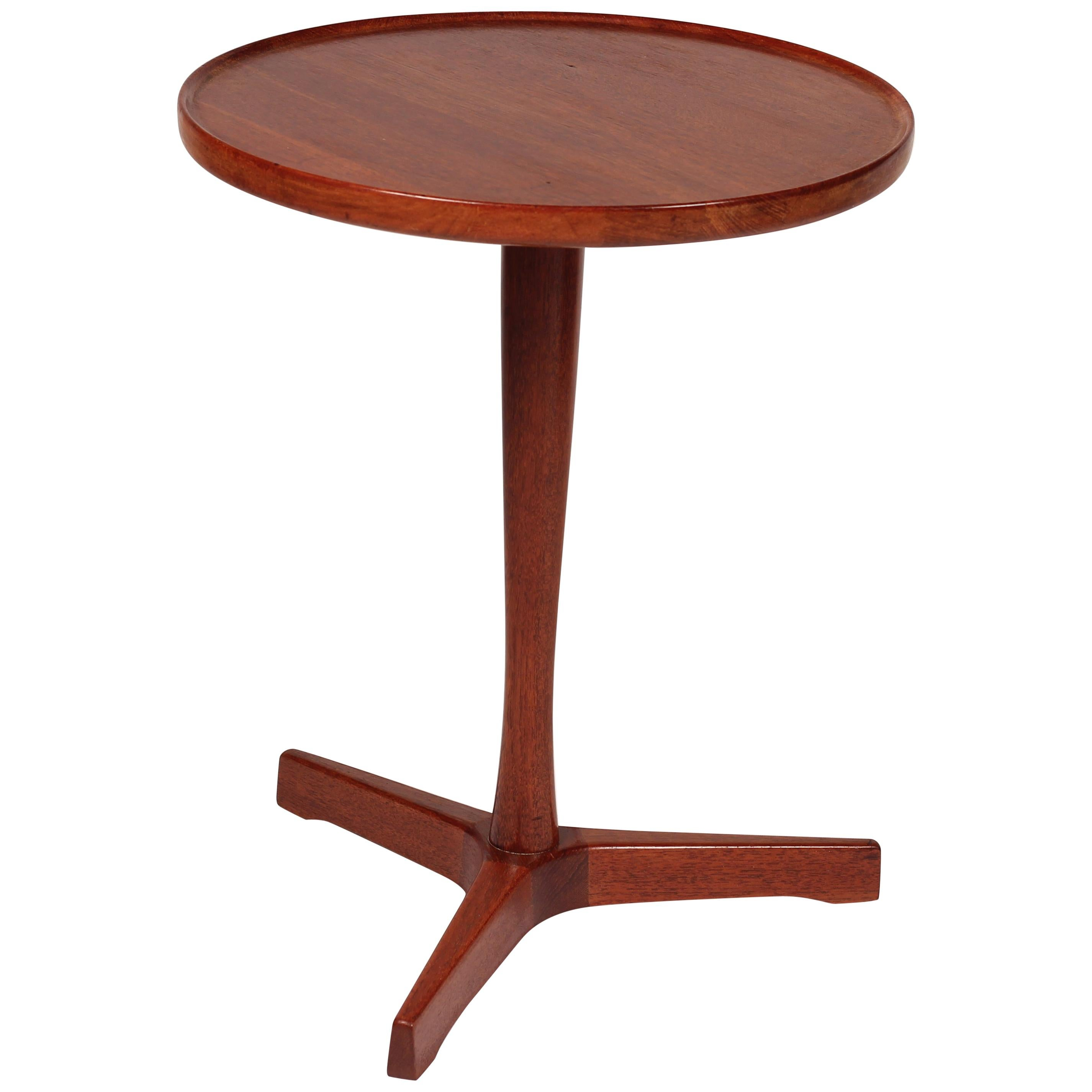 Midcentury Danish Teak Side Table Designed by Hans C Andersen