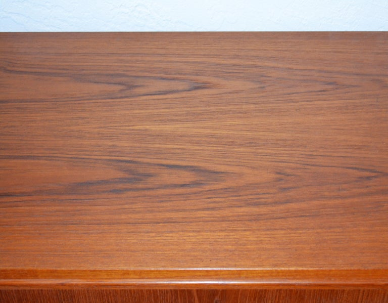 Midcentury Danish Teak Sideboard or Credenza by Carlo Jensen for Poul Hundevad For Sale 6
