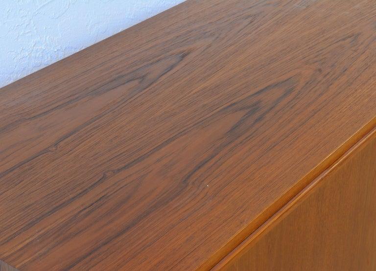 Midcentury Danish Teak Sideboard or Credenza by Carlo Jensen for Poul Hundevad For Sale 2