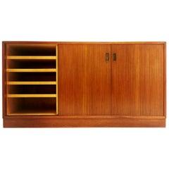 Midcentury Danish Teak Slide Door Sideboard Cabinet, 1970s
