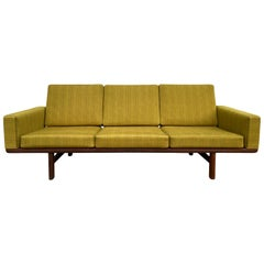 Midcentury Danish Three-Seat Sofa Model GE-236/3 by Hans Wegner for GETAMA Teak