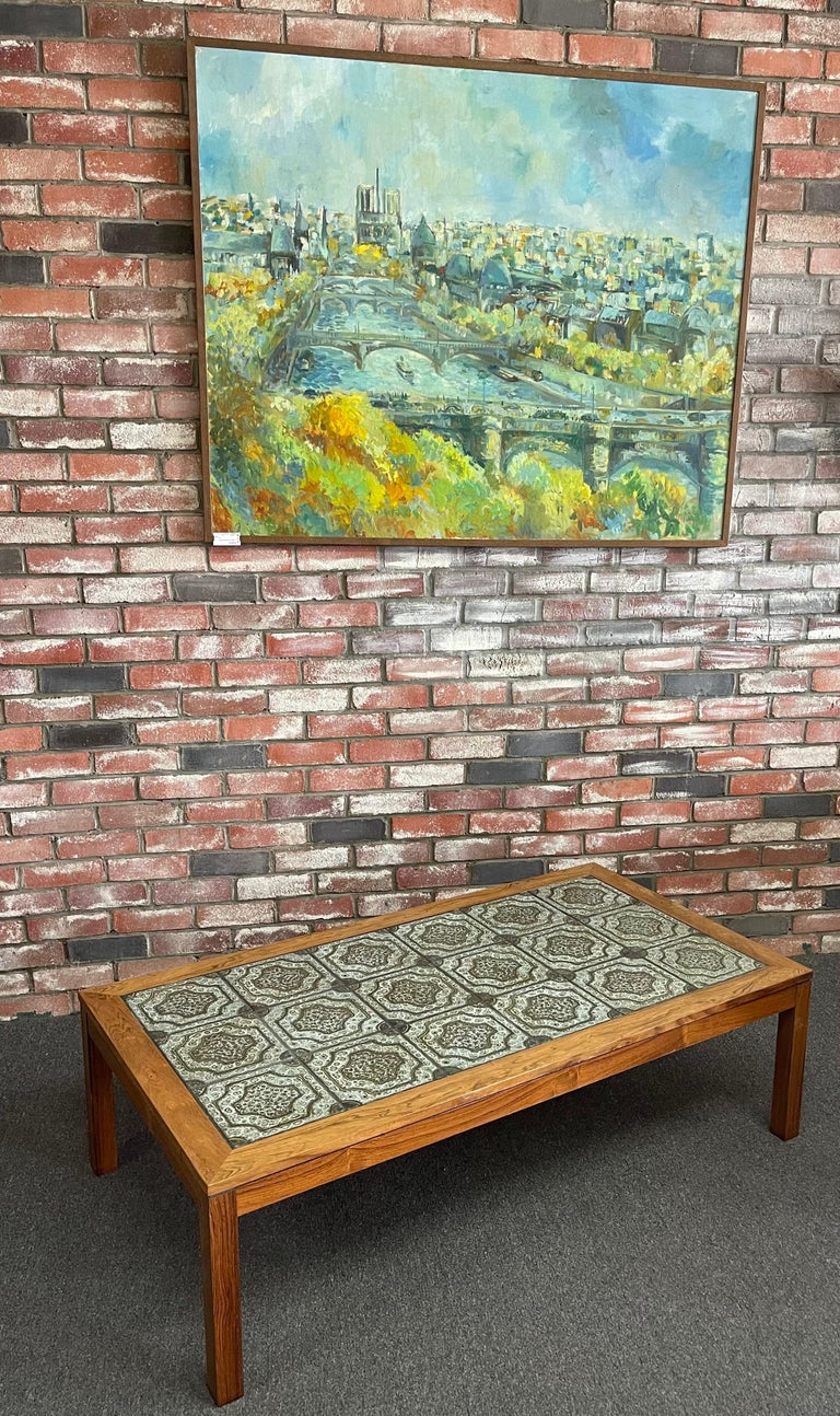 Mid-Century Danish Tile and Rosewood Coffee Table by Findahls Møbelfabrik For Sale 5