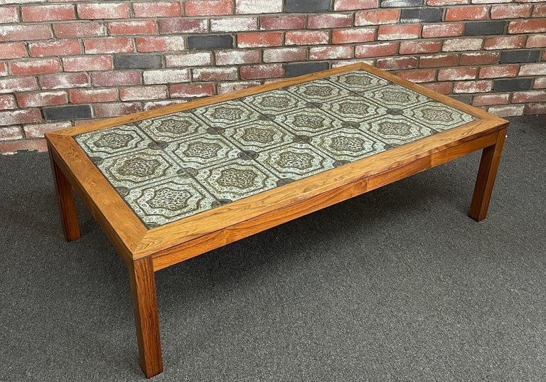 Mid-Century Danish Tile and Rosewood Coffee Table by Findahls Møbelfabrik For Sale 8