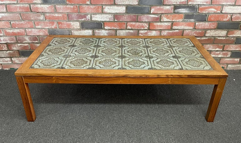 Mid-Century Danish Tile and Rosewood Coffee Table by Findahls Møbelfabrik For Sale 2