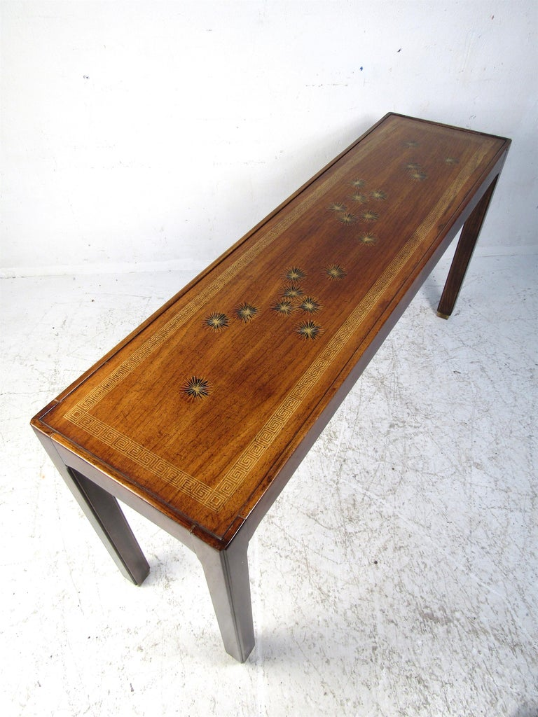 Midcentury Dark Wood Console Table For Sale 5