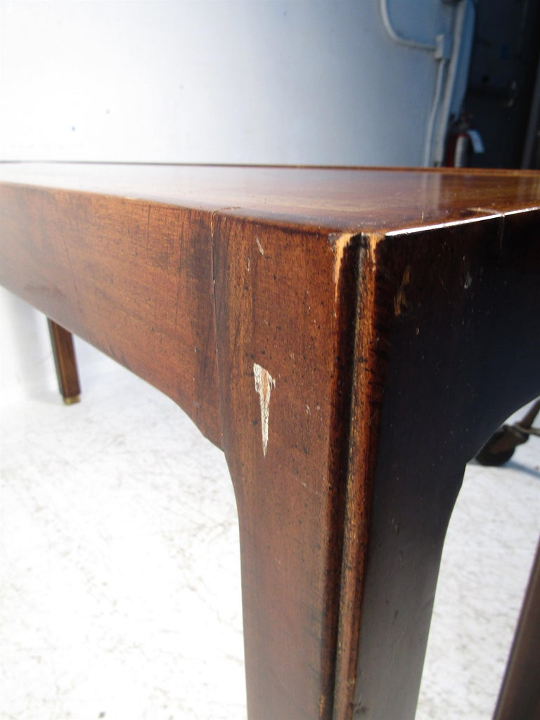 Midcentury Dark Wood Console Table For Sale 9