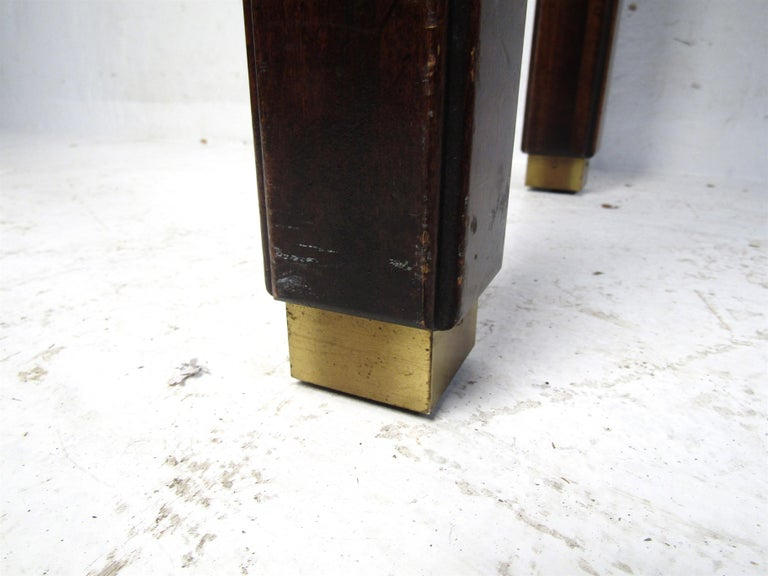 Midcentury Dark Wood Console Table For Sale 1
