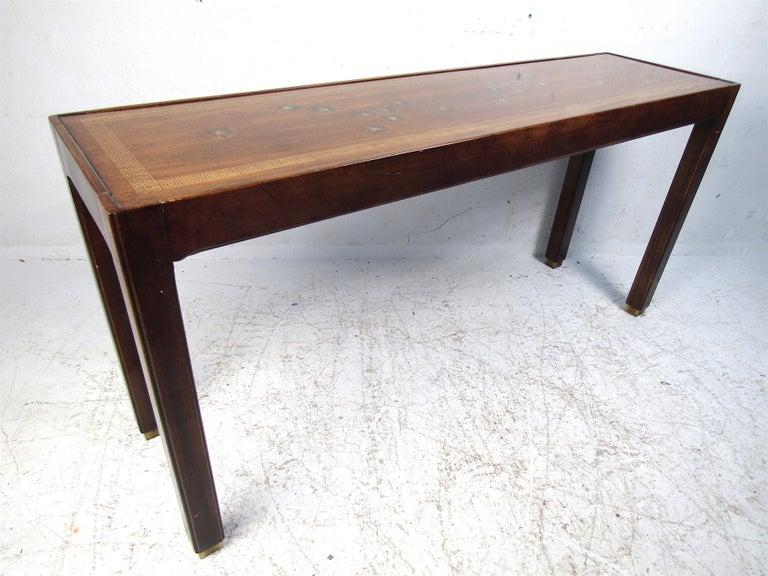 Midcentury Dark Wood Console Table For Sale 2