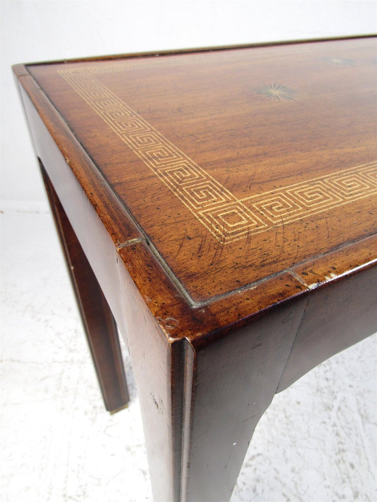 Midcentury Dark Wood Console Table For Sale 3