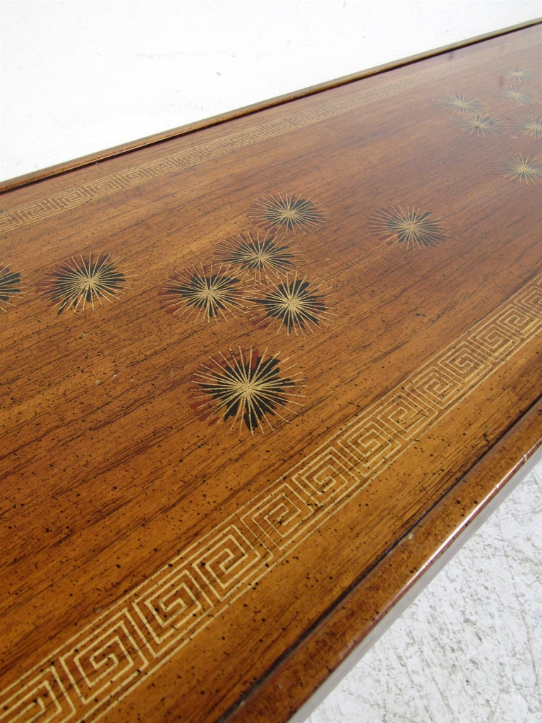 Midcentury Dark Wood Console Table For Sale 4