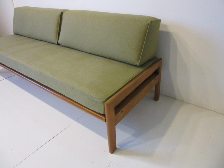 American Midcentury Daybed / Sofa in the Style of Van Keppel Green For Sale